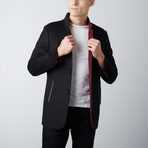 Paolo Lercara // Stand Collar Jacket // Black (US: 36R)