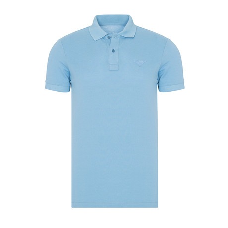 Triangular Patch Polo // Light Blue (S)