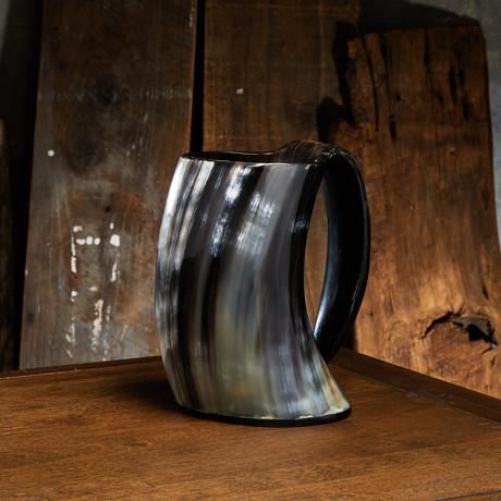 Polished English Pint Drinking Mug // Resin Base