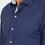 Lucci Long-Sleeve Button-Up Shirt // Slate Blue (M)