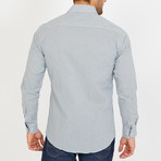 Pomarico Long-Sleeve Button-Up Shirt // Green + White (2XL)