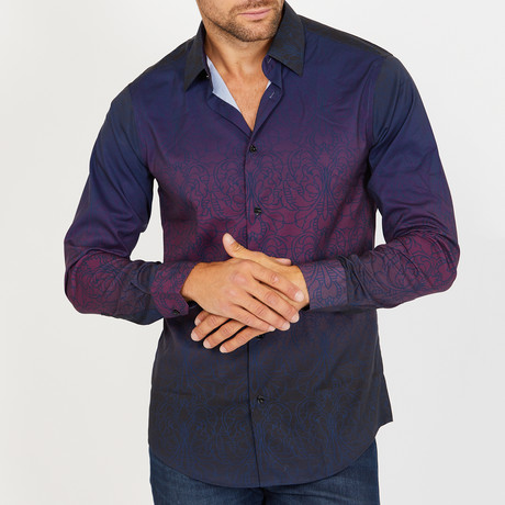 O'Brien Long-Sleeve Button-Up Shirt // Aubergine (S)