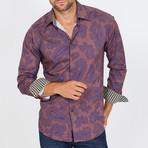 Tessinari Long-Sleeve Button-Up Shirt // Copper (S)