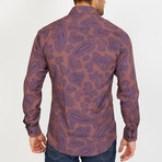 Tessinari Long-Sleeve Button-Up Shirt // Copper (M)