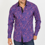 Ackles Long-Sleeve Button-Up Shirt // Purple (S)