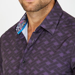 Anthony Long-Sleeve Button-Up Shirt // Purple (S)