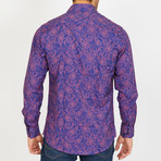 Ackles Long-Sleeve Button-Up Shirt // Purple (M)