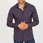 Anthony Long-Sleeve Button-Up Shirt // Purple (L)
