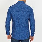 Hoffman Long-Sleeve Button-Up Shirt // Blue (S)