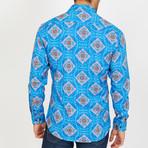Larry Long-Sleeve Button-Up Shirt // Aqua (S)