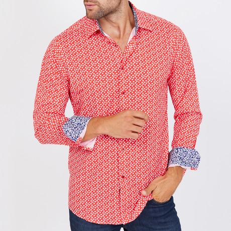 Gordon Long-Sleeve Button-Up Shirt // Red (S)