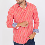 Gordon Long-Sleeve Button-Up Shirt // Red (XL)