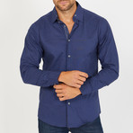 Branson Long-Sleeve Button-Up Shirt // Navy (S)