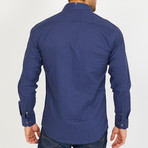 Branson Long-Sleeve Button-Up Shirt // Navy (M)