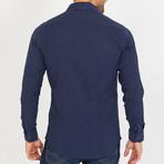 Corbin Long-Sleeve Button-Up Shirt // Navy (S)