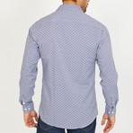 Simon Long-Sleeve Button-Up Shirt // Navy + White (S)