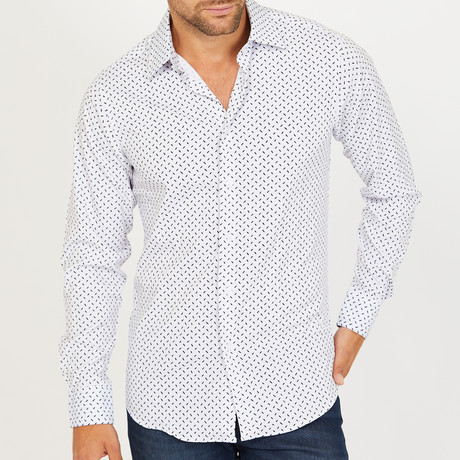 Jorn Long-Sleeve Button-Up Shirt // White (S)