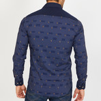 Rick Long-Sleeve Button-Up Shirt // Navy (S)