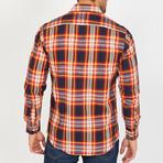 Rusty Long-Sleeve Button-Up Shirt // Orange (M)
