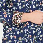Chip Long-Sleeve Button-Up Shirt // Navy (S)