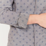 Hal Long-Sleeve Button-Up Shirt // Stone Gray (S)