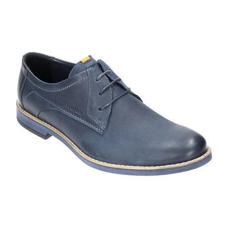 Stitched Casual Derby // Dark Blue (Euro: 40)