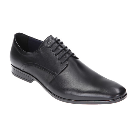Textured Side Plain Toe Derby // Black (Euro: 40)