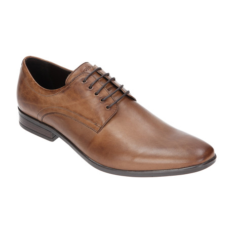 Textured Side Plain Toe Derby // Dark Brown (Euro: 40)