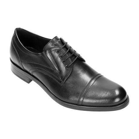 Stitched Cap Toe Derby // Black (Euro: 40)