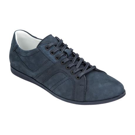 Nubuck Lace-Up Sneaker // Dark Blue (Euro: 40)