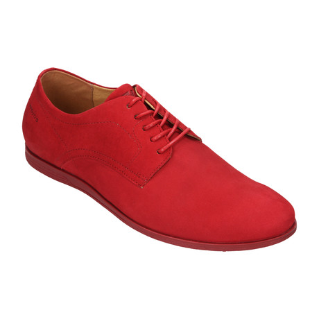 Nubuck Casual Dress Sneaker // Red (Euro: 40)