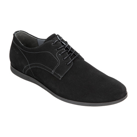 Nubuck Casual Dress Sneaker // Black (Euro: 40)