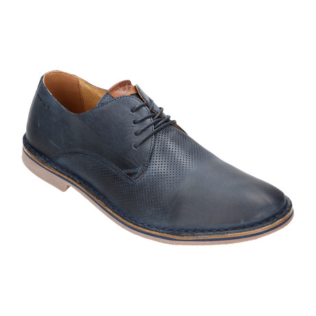 Perforated Derby // Dark Blue (Euro: 40)
