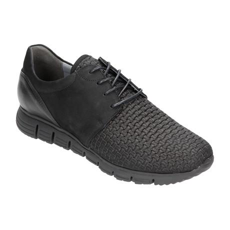 Woven Toe Mixed Texture Sneaker // Black (Euro: 40)