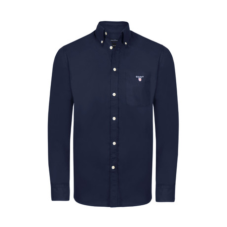 Gant Button-Up Shirt // Navy (S)