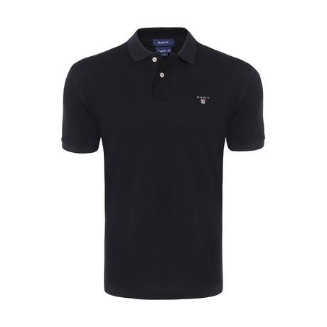 Gant Short Sleeve Polo // Black (2XL)