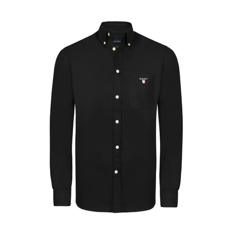 Gant Button-Up Shirt // Black (M)