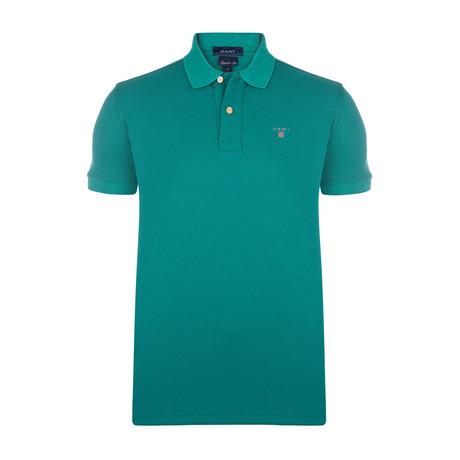 Gant Short Sleeve Polo // Green