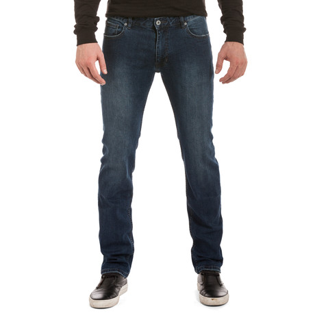 Parker Faded Slim Straight Leg Jean // Dark Blue
