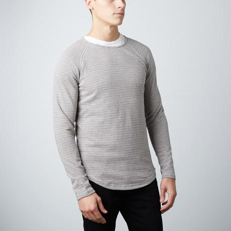 Zander Curved Hem Pullover // Grey (S)