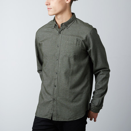 Roland Chambray Shirt // Olive (S)