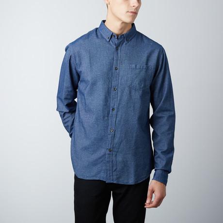 Roland Chambray Shirt // Navy (S)