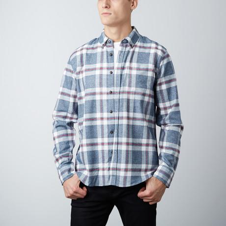 Conrad Flannel Shirt // Navy (S)