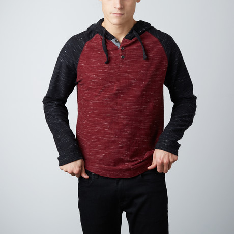 Hassan Henley Thermal // Ruby Wine (S)