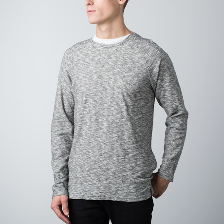Keegan French Terry Pullover // White + Black (S)