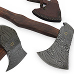 Damascus Steel Hatchet // AX-9