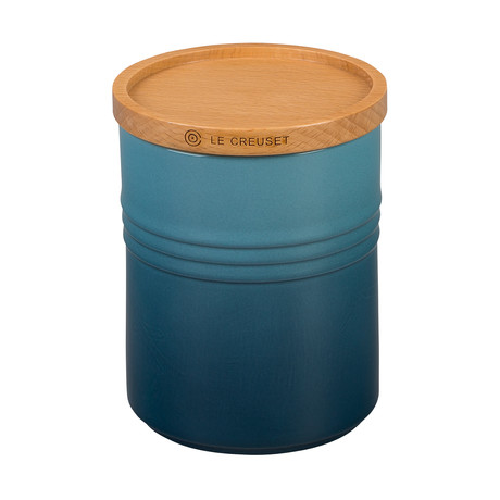 Canister with Wood Lid // 22 oz (Marine)