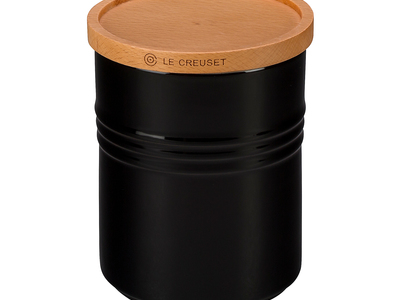 Photo of Le Creuset Legendary Tabletop + Kitchen Essentials Canister with Wood Lid // 2.5 qt (Marine) by Touch Of Modern