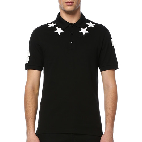 Givenchy Stars and 74 Details Polo // Black (S)