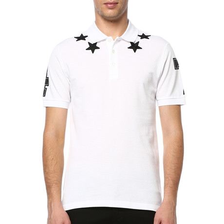 Givenchy Stars and 74 Details Polo // White (S)
